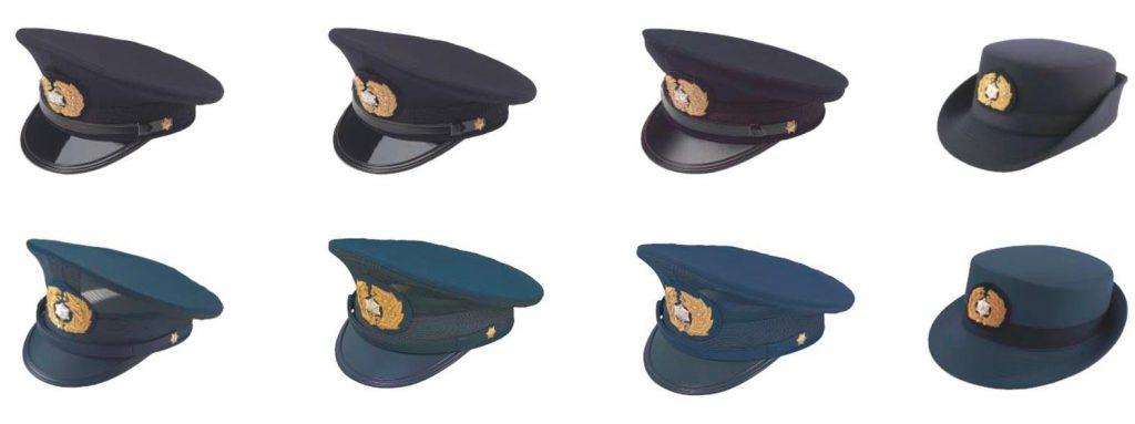 消防吏員用 制帽各種