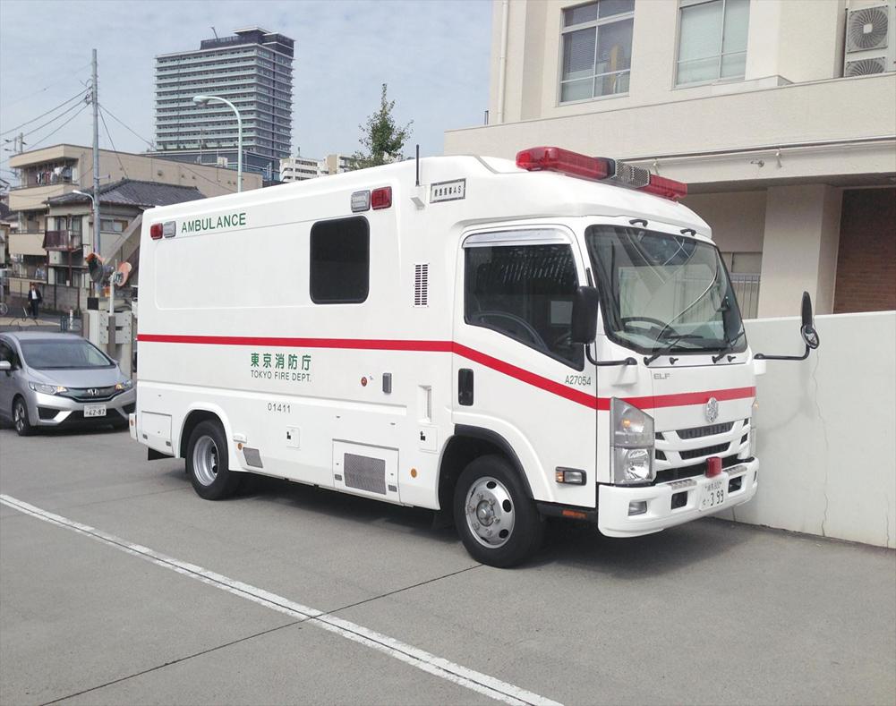 特殊救急車Tri-Heart(高規格救急車 準拠) 陰圧式救急車